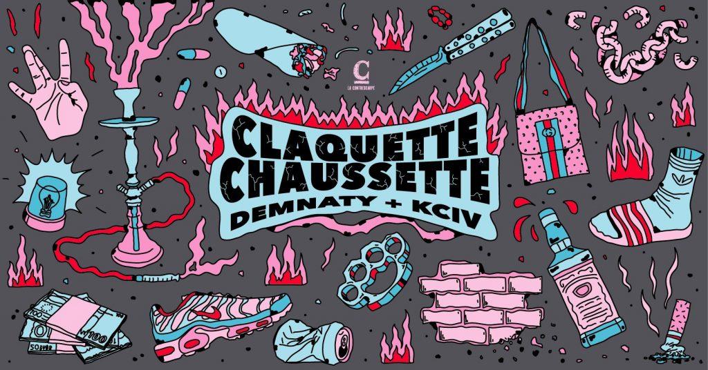 Claquette Chaussette : Demnaty + KCIV