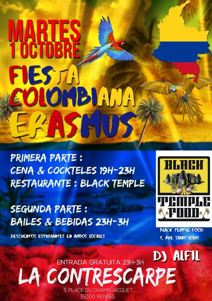 Erasmus Fiesta de integracion Colombiana DJ Alfil